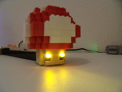 Deco Lego Nintendo (Old School Brick) Tags: nintendo lego mario block light whomp champi moc