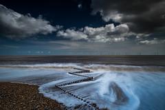Zig zag (lloydich) Tags: zig zag groyne norfolk clouds shoreline beach