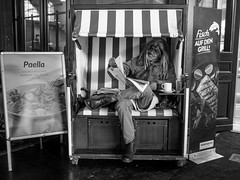 The Cook Recommands (pxlline) Tags: zürich bw urban candid dasischzüri street fish switzerland streetphotography paella nordsee newspaper ch