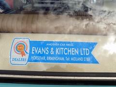 1968 AUSTIN 1300 1275cc NDP460F (Midlands Vehicle Photographer.) Tags: 1968 austin 1300 1275cc ndp460f dealers decal sticker evans and kitchen horsefair birmingham