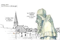Charmes, Châtel sur Moselle (gerard michel) Tags: france nicodème sketch croquis aquarelle watercolour lorraine vosges