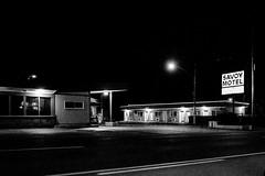 R0048843 (G. L. Brown) Tags: dickersonrd night savoymotel nashville nashvillestreetphotography noir streetphotography signage lights blackandwhite bw motel america