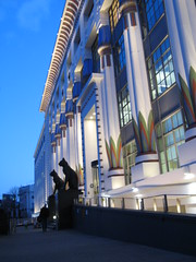 """Carreras Cigarette Factory, London (Snapperchap (Don Blandford)) Tags: """"arcadia works"""" """"greater london house"""" """"the black cat factory"""" artdeco artdecobuilding londonarchitecture carrerascigarettefactorylondon carrerascigarettefactory camdenarchitecture catsinarchitecture"""