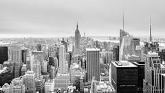 view from the top of the rock. New York. USA (l.ducrot) Tags: newyork boston nouvelan usa20162017 skyline rockfeller rockfellercenter topoftherock flitre ndgrad ndgrad09 leefilter lee filtredegradé nikon d750 24120 24120f4 nikonfx fx