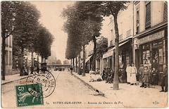 VITRY-sur-SEINE-94-Avenue-du-Chemin (gpmetropole) Tags: cpa vitry port à l anglais edf centrale electrique ardoines