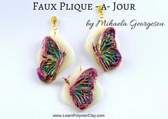 FauxPlique - a- Jour (mihaelageorgescu) Tags: polymer clay tutorial cernit fimo sculpey kato faux enamel plique jour