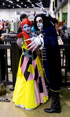 Beauty and the Beast, Nightmare Before Christmas Style (Kelson) Tags: wondercon wca comiccon wondercon2017 cosplay beautyandthebeast nightmarebeforechristmas jackskellington sally