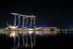 No Sand Though (Lemuel Montejo) Tags: singapore marina bay sands marinabaysands night skyline lights reflection architecture travel longexposure lemuelmontejoartworks