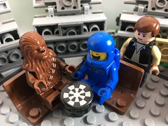 2017-097 - Let the Wookiee Win (Steve Schar) Tags: 2017 wisconsin sunprairie iphone iphone6s project365 lego minifigure benny chewbacca wookiee chess spaceship hansolo millenniumfalcon