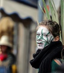 The Vine (ybiberman) Tags: israel jerusalem purim maiden woman portrait disguise costume makeup plant candid streetphotography