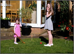 Florence and Grace (* RICHARD M (Over 6 million views)) Tags: grace florence flo family candids croquet happpy happines