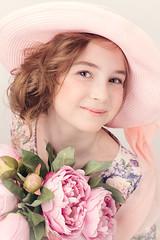 Юная Кокетка (MissSmile) Tags: misssmile child kid girl tender delicate memories smile portrait sweet pink color vintage hat