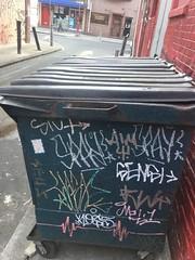 image (4) (absolutetrashmag) Tags: absolutetrash absolutetrashmag graffiti philly philadelphia tags kos5 ekg sensi dumpsters