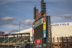 Comerica Park (DJ Wolfman) Tags: comericapark fordfieldhouse detroit detroitmichigan detroitmi scoreboard michigan michiganfavorites blue sky cities sony rx10 tigers baseball