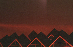 the ridge (m_travels) Tags: architecture lightleak analog technique redscale homemade selfmade diy lomography800 reversesideofthefilm 35mmfilm argentique filmphotography experimental flippedfilm mood
