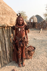 Outside the Hut 2073 (Ursula in Aus) Tags: africa himba namibia otjomazeva iphone