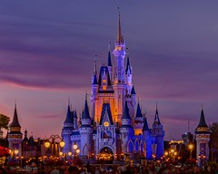 All lit up for the show (Sue.Ann) Tags: disney disneyworld cinderella cinderellascastle walt waltdisney orlando florida nightphotography night nightsky
