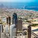 Burj Al Arab from the Burj Khalifa, Dubai, 20170404
