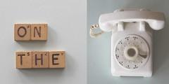 105/365 on the phone (SarahLaBu) Tags: diptych diptychon week152017 52weeksthe2017edition weekstartingsundayapril92017 365the2017edition 3652017 day105365 15apr17 canoneos500d canonrebelt1i weeklytheme week15theme phone telefon vintage toy