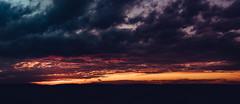 dramatic sunset panorama (kentgeiner) Tags: sunset cossi lake clouds sky himmel wolken raw orange golden goldenhour reflection reflections dramatic epic beautiful landscape nikon nikonraw d750 nikond750 lightroom photoshop dark darkness red blue colors color kontrast contrast
