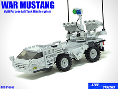 レゴ ウォーマスタング多目的対戦車ミサイルシステム(LEGO War Mustang Multipurpose Anti Tank Missile System) (popo lego) Tags: lego moc military army atm anti tank missile system vehicle レゴ 対戦車ミサイル 車両