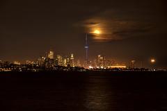 Toronto (sspike@rogers.com) Tags: toronto ontario moon glow landscape steverossi water lakeontario reflection orange