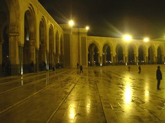 Hassan ii Mosque at Night (Rckr88) Tags: hassan ii mosque night hassaniimosqueatnight hassaniimosque masjid islamic architecture arches arch columns column buildings building light lights casablanca morocco northafrica africa travel travelling