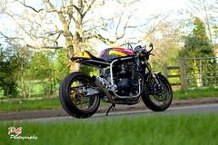 SAVAGE (paul giles19) Tags: savage biker build off hard upcustoms number 7 cafe racer motobikes red yellow fast suzuki barry sheene