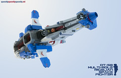 DT-58 Rigelian Multi-Role Space Fighter (threeDadventures) Tags: lego spaceship asymettric