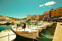 Old Port- Cres Town (Tim Ertl) Tags: city houses docks boats croatia bluesky oldtown 1000things sunnyday cres