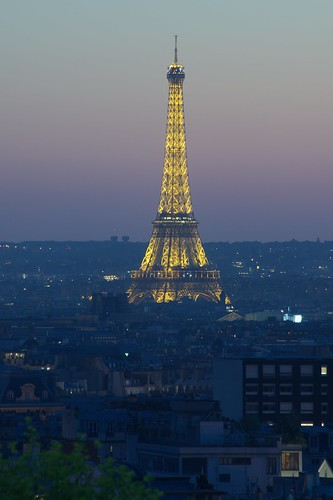 Eiffel Tower at the blue hour