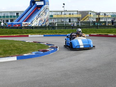 109. Racing. 19-04-2014 (Mr Dimpy) Tags: me track son petrol southport pontins panasoniclumixdmctz35 gokartspetrol