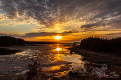 Sunset Under a Mackerel Sky