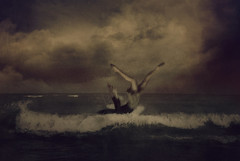 We Fall (kaiyanp) Tags: summer portrait toronto art beach water rain clouds photomanipulation photoshop photography spring artistic contemporaryart surrealism fineart surreal sensual photograph portraiture co