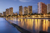 Waikiki Beach At Sunset (cstout21) Tags: travel sunset church night clouds hawaii hotel us day unitedstates waikiki oahu pacificocean honolulu aloha hdr highdynamicrange stout ngoc canon60d stoutandstout pwpartlycloudy pagesstoutstoutphotography146206765433752