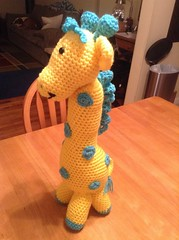 Melie Rice (The Crochet Crowd) Tags: mikey giraffe redheart crochettoy mysteryadventure freeamigurumipattern mysterycrochetalong thecrochetcrowd michaelsellick freeonlinetutorial thecrochetcrowdcrochetalong freegiraffecrochetpattern freecrochetvideo