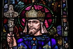 Saint Louis IX, King of France (catb -) Tags: ireland church window glass cork stainedglass fa harryclarke