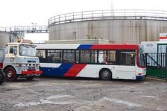Dundee Transport Museum yard (ajrm1976) Tags: volvo erf wright travelwestmidlands b10l traveldundee nationalexpressdundee p122ksl gsr478e dundeemuseumoftransport