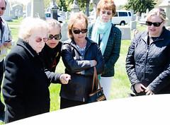 The Dillon Descendants Examining the Gravestone