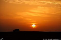 Lovely sunset (mosa3ad alshetwi) Tags: nature desert normal شمس pres غروب compatibility السعودية طبيعه لاندكروزر جيب نفود