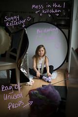 setup to: '121 | Klara' (Marta A Orlowska) Tags: canon studio photography 50mm child 5d setup learn strobe day121