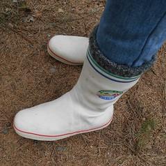 WVi105 (Lisban2009) Tags: white socks viking wellies rubberboots gummistiefel sailingboots