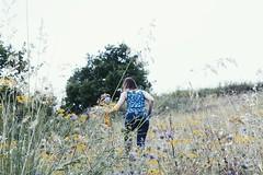 Inside the nature (asya_ferro) Tags: wood blue red tree verde green girl yellow blu violet giallo albero rosso bosco arrampicata capra sottobosco