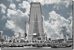 KUWAIT CENTRAL BANK-1 (jawadn_99) Tags: vegas blue sky urban blackandwhite panorama favorite abstract building art clouds skyscraper poster photography interestingness high cosmopolitan construction triangle perfect iron flickr photographer skyscrapers artistic stones unique steel patterns structures style structure explore tall unusual archetecture picnik patterned rize urbanization geometrics concreet   uniqueness supershot banksky abigfave  visualconcept  platinumheartaward beuilding  bestcapturesaoi coth5 elitegalleryaoi mygearandme  galleryoffantasticshots sunrays5 degighn inspiringcreativeminds