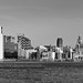 LIVERPOOL SKYLINE FROM EGREMONT BLACK AND WHITE