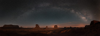 Monument Valley under the Milky Way