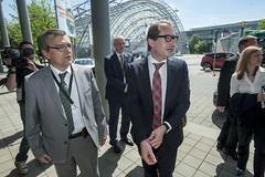 José Viegas and Alexander Dobrindt arriving at the conference center