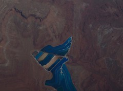 WHAT IS THIS? (Burlingamebarley) Tags: blue mystery path grandcanyon from35000ft greenrivervalley