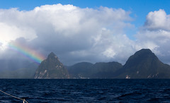 IMG_0408 (jaglazier) Tags: trees panorama mountains clouds boats islands landscapes seascapes transport january cities carribean cliffs yachts rainbows sailboats urbanism atlanticocean forests stlucia volcanos deciduoustrees 2014 soufrire saintlucia 11014 lepitons copyright2014jamesaglazier