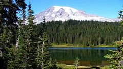 Mount Rainier National Park, Washington (atridim) Tags: photo flickr widescreen mountrainiernationalpark reflectionlake 169 captainrick 16x9widescreen virtualjourney atridim